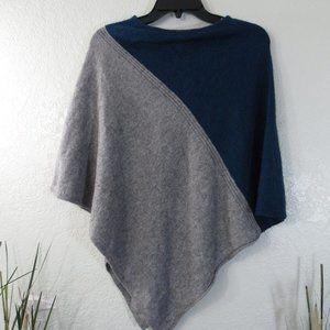 Poncho Shawl Wrap Cape Boho Wool Cashmere One Size